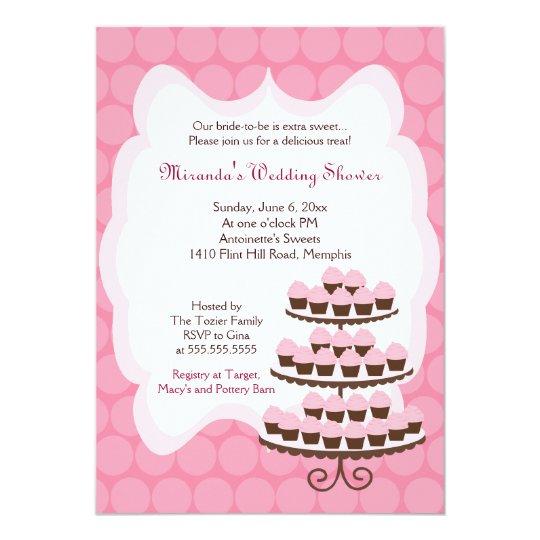 Sweet Treat Cupcake Bridal Shower 5x7 13 Cm X 18 Cm Invitation Card