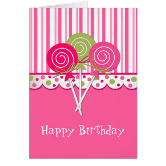Sweet Treat Girl's Birthday Greeting Card