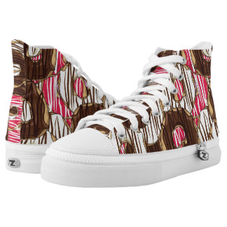 Sweet treat iced donuts printed shoes