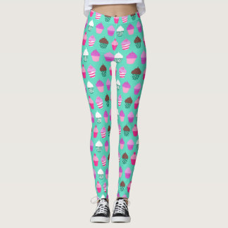 Sweet treats cupcakes design leggings