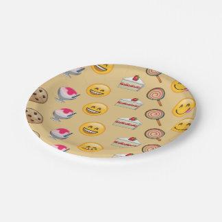 Sweet Treats Emojis 7 Inch Paper Plate