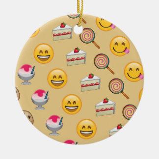 Sweet Treats Emojis Ceramic Ornament
