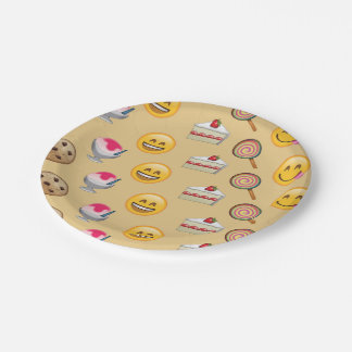 Sweet Treats Emojis Paper Plate