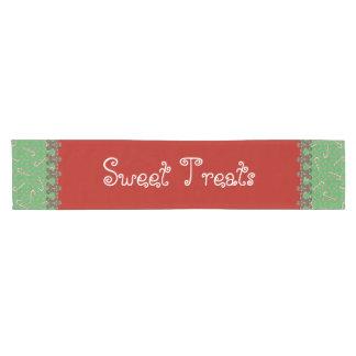 Sweet Treats Holiday Candy Buffet Gingerbread Men Short Table Runner