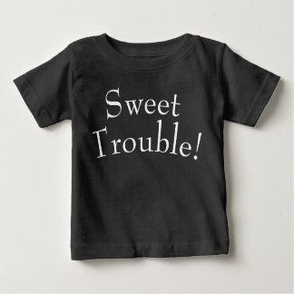 Sweet Trouble Kids T Shirt White on Black
