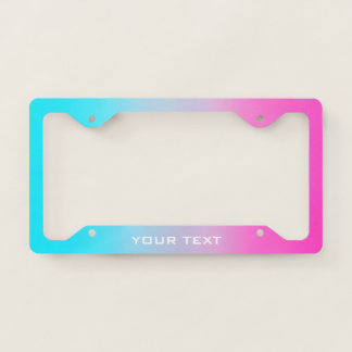 Sweet Turquoise and Pink Gradient Licence Plate Frame