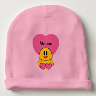 Sweet Tweetheart Chick Custom Baby Beanie