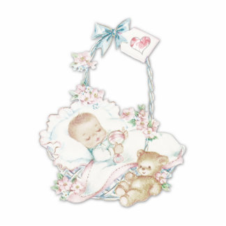 Sweet Vintage Baby Girl Cut Outs