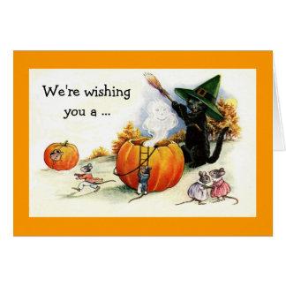 Sweet Vintage Halloween Greeting Card