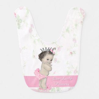 Sweet Vintage Pink Princess Baby Bibs