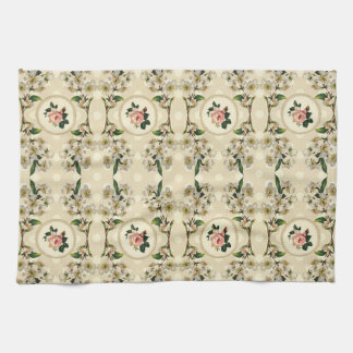 Sweet Vintage Shabby Chic Roses Floral Hand Towels