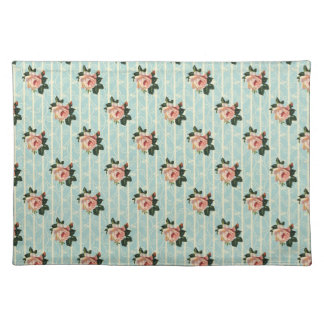 Sweet Vintage Shabby Chic Roses Floral Place Mat