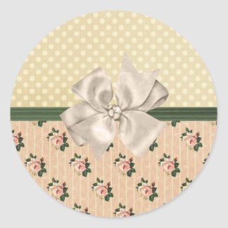 Sweet Vintage Shabby Chic Roses Floral Sticker