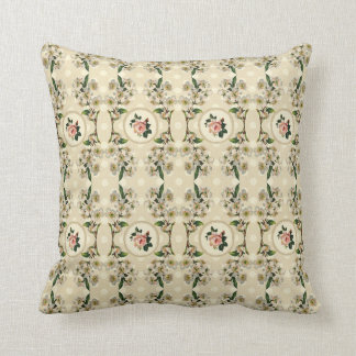 Sweet Vintage Shabby Chic Roses Floral Throw Pillow