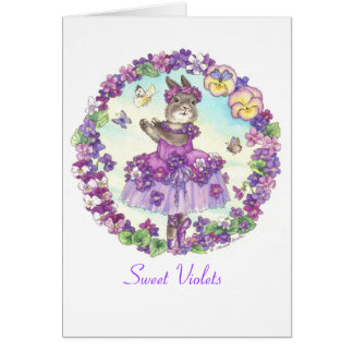 Sweet Violets blank card