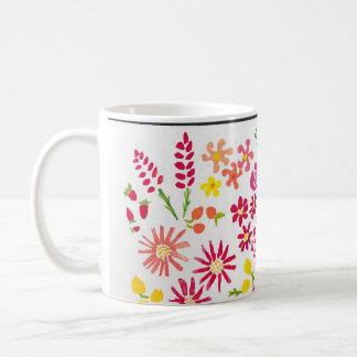 Sweet Watercolor Floral Mug Basic White Mug