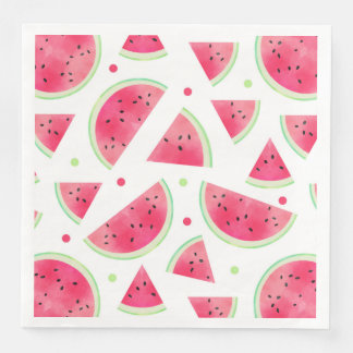 Sweet Watercolor Watermelon Pattern Disposable Napkin