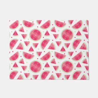 Sweet Watercolor Watermelon Pattern Doormat