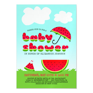 Sweet Watermelon Baby Shower Magnetic Invitations