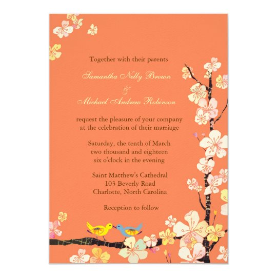 Sweet Wedding Announcement Invitation