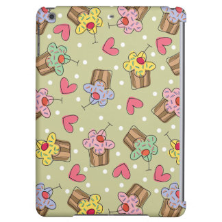 Sweet Whimsical Cherry Cupcakes Hearts Dots Casing Case For iPad Air