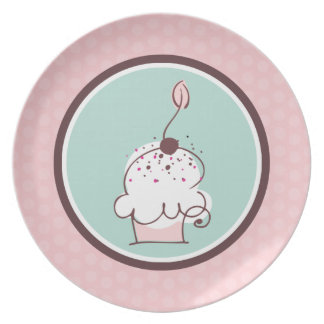 Sweet Whimsical Cupcake Plate