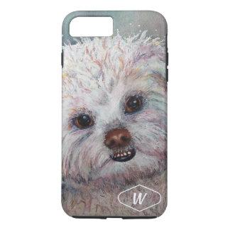 SWEET WHITE MALTESE YORKIE MIX iPhone 8 PLUS/7 PLUS CASE