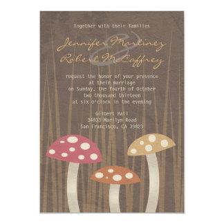 Sweet Wild Mushroom Wedding Invitations