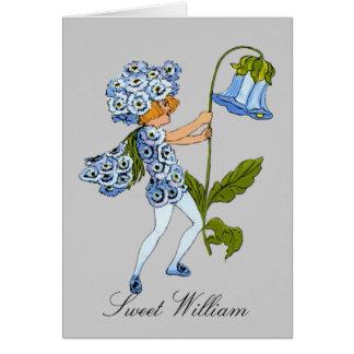Sweet William  - Flower Children Blank Notecard