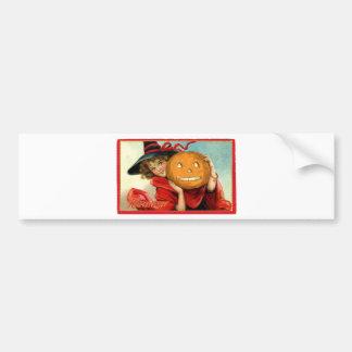 Sweet Witch Vintage card Bumper Sticker