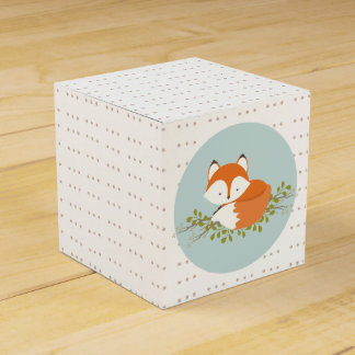 Sweet Woodland Fox Baby Favor Box Wedding Favour Boxes