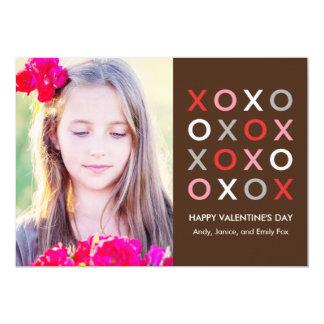 Sweet XOXO Valentine's Day Photo Cards 13 Cm X 18 Cm Invitation Card