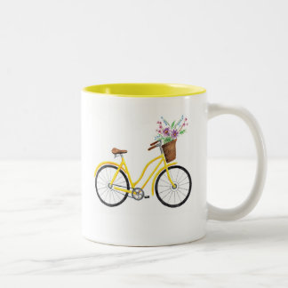 Sweet Yellow Bike Mug