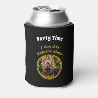 Sweet Yorkshire terrier small dog Can Cooler