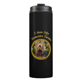 Sweet Yorkshire terrier small dog Thermal Tumbler