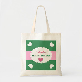 SWEETEST BRIDE EVER Wedding Favor Gift Hearts A08 Bags