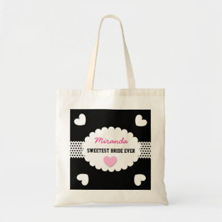 SWEETEST BRIDE EVER Wedding Favor Gift Hearts A09 Bag