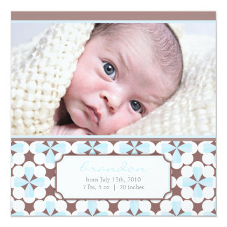 Sweetest brown 5.25x5.25 square paper invitation card