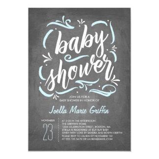 Sweetest Chalkboard Baby Shower Invitation | Blue