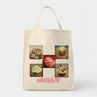 Sweetest Cupcake Tote Ever Grocery Tote Bag