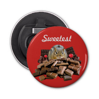 Sweetest Day Chocolate Chipmunk Bottle Opener