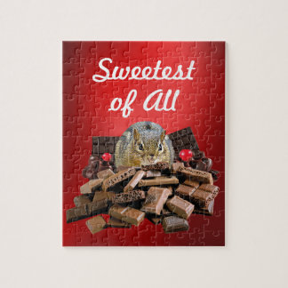 Sweetest Day Chocolate Chipmunk Jigsaw Puzzle