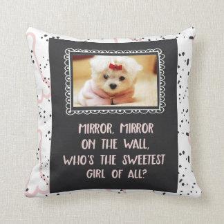 Sweetest Girl of All Custom Dog Photo Throw Pillow