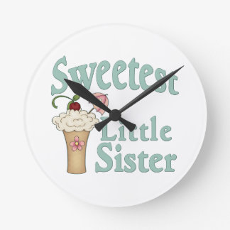 Sweetest Little Sister Malt Round Wallclocks