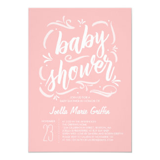 Sweetest Pink Baby Shower Invitation