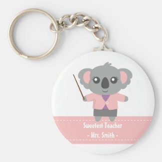 Sweetest Teacher, Cute Koala Bear, Appreciation Key Ring
