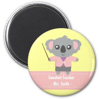 Sweetest Teacher Cute Koala Bear Appreciation Magnets