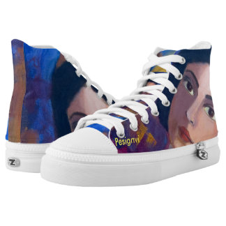 Sweetheart! A sneaker with original painting Printed Shoes