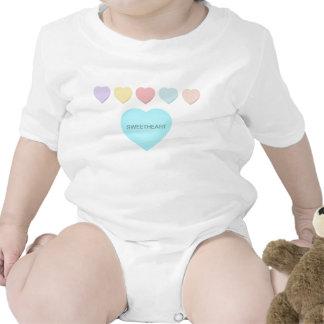 Sweetheart Baby Mint Green Hearts Infant Creeper