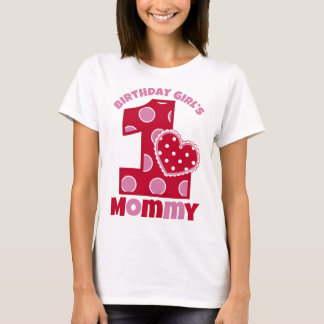 Sweetheart Birthday Girl's Mommy T-Shirt